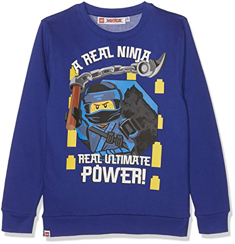 Lego Ninjago Jungen Sweatshirt - blau - 116 (Ninjago Sweatshirt)