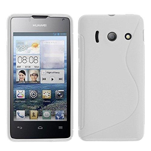 HCN PHONE Huawei Ascend Y300 Etui S-LINE TPU Gel Silikon Hülle Flexibel für Huawei Ascend Y300 - WEIß