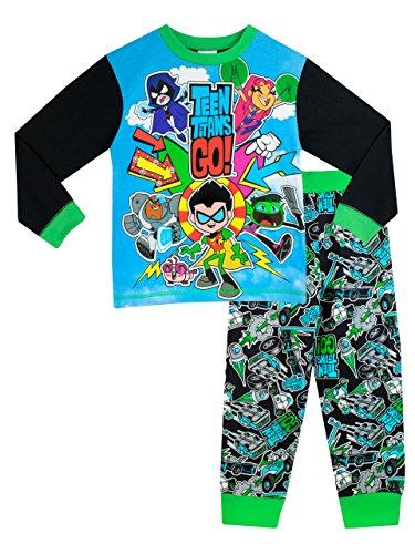 teen-titans-go-pigiama-a-maniche-lunga-per-ragazzi-di-teen-titans-go-5-a-6-anni