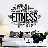 Fitness Worte Wandtattoos Gesunder Lebensstil Wandaufkleber Gym Motivation Vinyl Aufkleber Home...