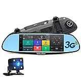 """Junsun 7"""" Dash Cam Telecamera per Auto Full HD 1080P Specchietto Retrovisore Navigatore Sattelitare GPS Android 5.0 con 3G"""