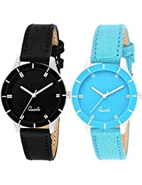 Advogue Analogue Dial Multi Color Watch for Couple Set of