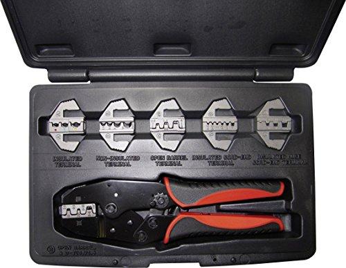 WKK 60166 Crimpzangen-Set Isolierte Kabelschuhe, Isolierte Aderendhülsen, Unisolierte Flachsteckver