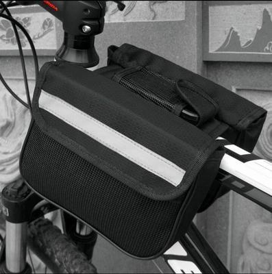 FAN4ZAME Fahrräder Satteltaschen Mountainbikes Einziges Auto Taschen Sattel-Lkw Vorderer Träger Reiten Zwei Seitlichen Fahrzeug Paket Ausrüstung Black