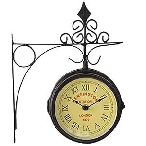 Horloge de gare rétro double face Kensington London