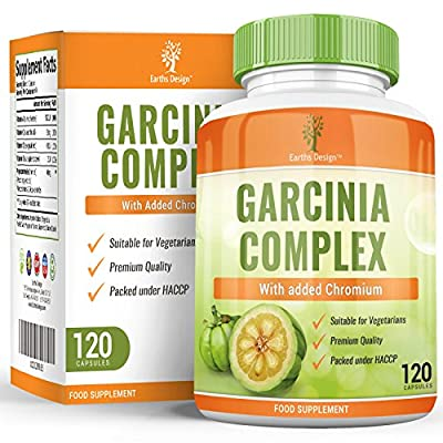 Garcinia Cambogia, High Strength Extract for Weight Loss, Pure Extract WITHOUT the Side Effects of the Synthetic Complex, The Perfect Appetite Suppressant To Start Your Diet- 500mg, 90 Capsules from Earths Design