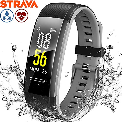 Makibes Fitness Tracker Orologio Smartwatch GPS Braccialetto Activity Tracker con Cardiofrequenzimetro Polso Contapassi Calorie Impermeabile IP68 Uomo Donna per Android iOS iPhone Huawei Xiaomi