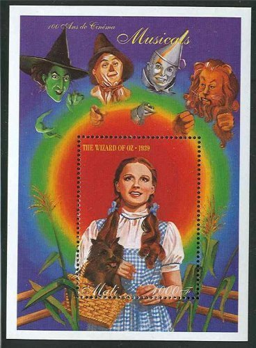 The Wizard Of Oz Judy Garland Collectible Postage Stamp Mali 728