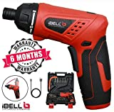 iBELL MS06-16 Cordless Rechargeable Electric Screwdriver 3.6V, 1500mAh Lithium Ion Battery MAX Torque