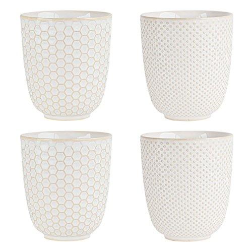 ASA 90410071  Porzellan Becher 7,50 x 7,50 x 8,20 cm  4 Einheiten, weiß
