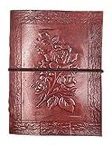 Chic & Zen - diario, agenda, blocchetto per appunti, Vera Pelle, Vintage, Rosa, 13 cm x 17 cm, carta premium