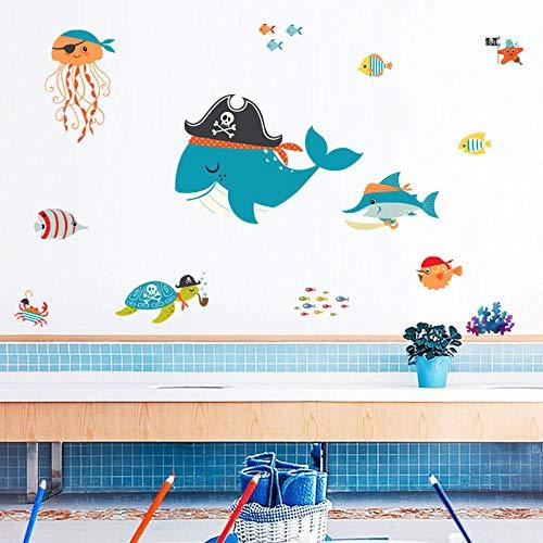 Wandtattoos Cartoon Wal Unterwasserwelt Wandtattoos Aquarium Badezimmer Wandtattoos -