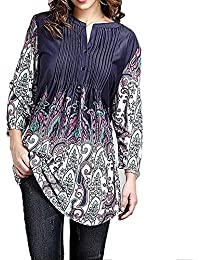 ce33f9e909ac09 IZHH Frauen/Damen Mode Große Größe V-Ausschnitt Shirt Einfach Blumen  Gedruckt Tops Kostüm Lange Ärmel Sweater…