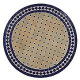 Casa Moro Marokkanischer Orientalischer Mosaiktisch 120 cm Blau