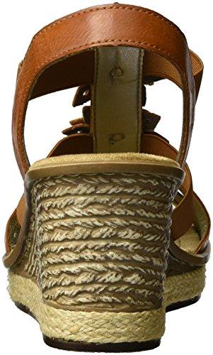 Rieker 67510, Sandales Bout Ouvert Femme Marron (Cayenne/platin / 24)