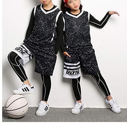 Mädchen Fußball Trikot Kostüm - STARINN Kinder Basketball Trikots Set Fußball