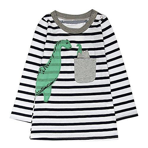 d-Mädchen Langarm Herbst Karikatur Prinzessin T-Shirt Kleid 2-6T (E, 6T) (Cinderella Kleid Für Kleinkinder)