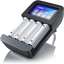 CSL - Universal Batterie Ladegerät   Typ AA oder AAA (NiMH)   Mikroprozessorgesteuertes Laden   4x Ladeschächte   einfache Handhabung   LCD-Display   schwarz