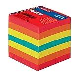 Herlitz Bloc-notes, encollé avec couverture, 1article sous film, 900feuilles, 9x9cm, blanc 700 Blatt coloré