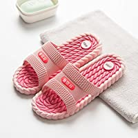 fankou The Bathrooms Have a Bath in The Summer Non-Slip Men and Women Home Interior Home Thick Couples Home Slippers Soft Bottom Cool Slippers Female,39-40, Watermelon Red