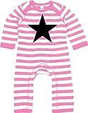 Racker - n - Roll Black Star Baby Rompasuit Strampler