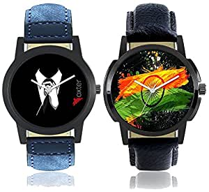 Foxter Analogue Multicolor Dial Combo Of 2 Men's Watch - FX-M-WAT403-404