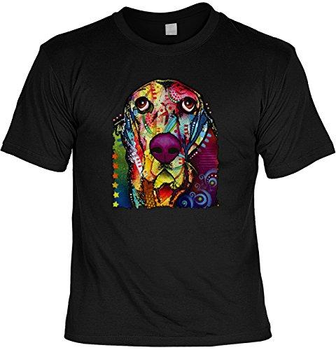 Color T-Shirt Neon Basset Shirt 4 Heroes Geburtstag Geschenk geil bedruckt Schwarz