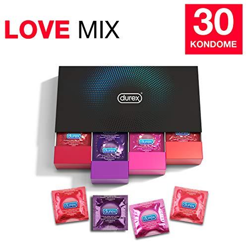 Durex Love Collection Kondome in stylischer Box - Aufregende Vielfalt, praktisch & diskret verpackt - für gefühlsintensive Erlebnisse - 30er Pack (1 x 30 Stück)