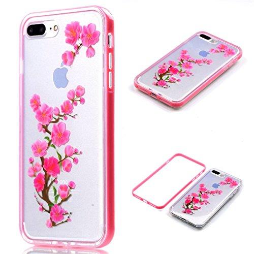 Apple iPhone 8 Plus 5.5 Hülle, Voguecase Schutzhülle / Case / Cover / Hülle / 2 in 1 TPU Gel Skin (Elefanten 06) + Gratis Universal Eingabestift Crabapple Baum