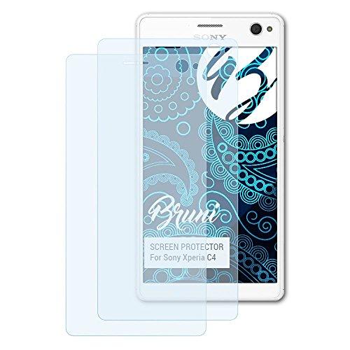 Bruni Schutzfolie kompatibel mit Sony Xperia C4 Folie, glasklare Bildschirmschutzfolie (2X)