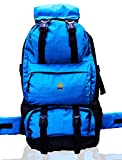 #9: Biggfoot Bonfire 50 Litres Rucksack for Travelling, Trekking, Camping, Backpack for Adults- Men and Women in Blue