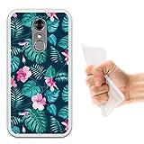 WoowCase ZTE Blade A910 Hülle, Handyhülle Silikon für [ ZTE Blade A910 ] Tropische Blumen 2 Handytasche Handy Cover Case Schutzhülle Flexible TPU - Transparent