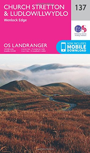 landranger-137-ludlow-church-stretton-wenlock-edge-os-landranger-map