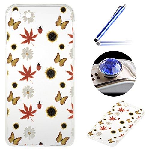 iPhone 7 4.7 Pouces Coque, Etsue pour iPhone 7 4.7 Pouces Vogue Gel Housse étui de téléphone mobile ,TPU Silicone Matériau Transparente Ultra Mince Supérieur Semi Transparent Doux Coque [Automne Abond Automne Abondante