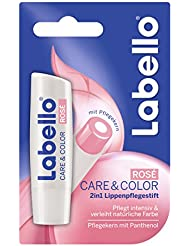 Labello Care und Color Rose Blister, 4er Pack (4 x 4.8g)