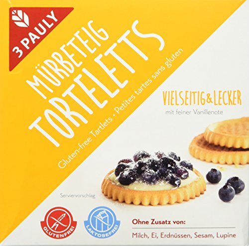 3 Pauly Mürbeteig Torteletts - glutenfrei, 4er Pack (4 x 200 g) Test