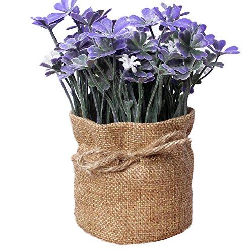 t Topf, Dekoration, hausgemachte künstliche Blumen, 1 Stück, violett, 7.5 * 16.5cm ()