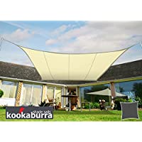 Kookaburra Toldo Vela de Sombra Para Jardín - Resistente al Agua - 5m x 4m Rectangular Marfil