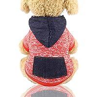 laamei' Sueter de Estilo Deportivo para Mascota Gato o Perro Forro Polar para Cachorro Chaquetas de Invierno o Otoño Ropa de Algodón Caliente para Gatos Perros Abrigo Cálido Cómodo Size XS-XXL