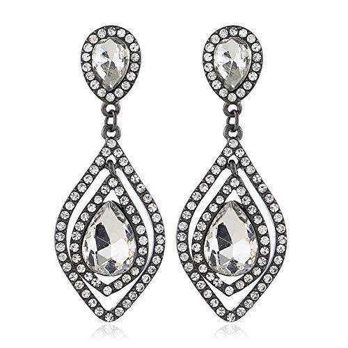Crystal-kristall-palast (Beautifulchen Ohrstecker Earrings_ Diamond Drop Ohrstecker Ohrringe Crystal Fashion Joker Lady Geschenk)