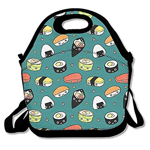 ZMvise Japan Sushi Kawaii Lunch Tote aislado almuerzo picnic bolsas reutilizables de cajas hombres mujeres niños Toddler enfermeras Travel bag