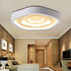 LIYONGDONG® Deckenlampe Rose Förmige LED Acryl 3 Farbe Romantische  Dekoration Wohnzimmer Schlafzimmer LED