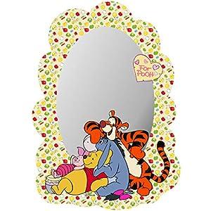 alles-meine.de GmbH Kinder Wandspiegel – Acryl Spiegel – bruchsicher unzerbrechlich – Disney – Winnie Pooh – inkl. Name…