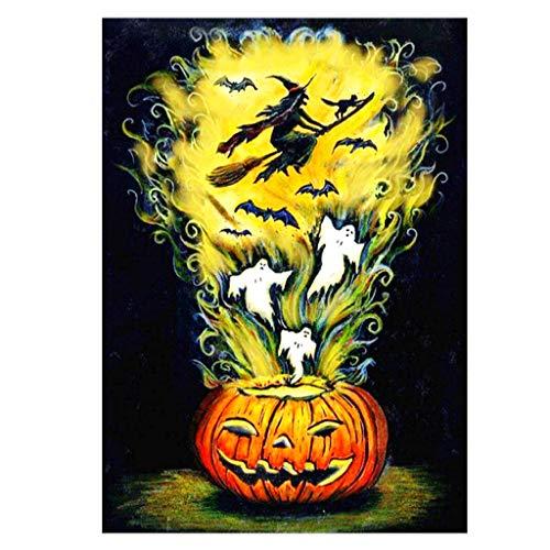 Balain Halloween-Zauberwürfel, 5D-Stickerei, 30 x 40 cm,