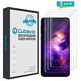 Cubevit Galaxy S10 Displayschutzfolie, 3er-Pack, [hüllenfreundlich] [Keine Lifted Edges] [Blasenfrei] HD Klar Nass Applied TPU Folie Displayschutzfolie für Samsung Galaxy S10 2019