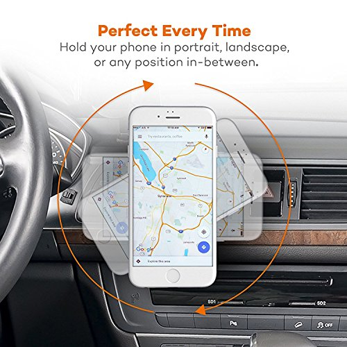 iVoler® Supporto Porta Cellulare, Magnetico Auto Universale Premium Air Vent Magnetic 360 Gradi di Rotazione Porta Cellulare Universale Air Vent Car Mount per per iPhone 6/6 plus/6s/6s plus/5, iPod To Nero