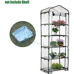 Beimaji Trade Mini serre de jardin à 5étages en PVC chaud pour semis et plantes (sans support en fer) C