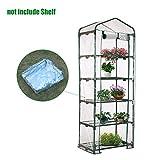Heresell - Telo in PVC per mini serra a 4 ripiani per piante, senza telaio in ferro, Green, C
