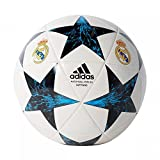 adidas Real Madrid Finale 17 Capitano Spielball, White/Black/Vivtea/Nt, 4