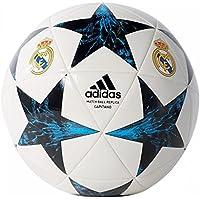 Adidas Finale17Rm Cpt Balón Línea Real Madrid, Hombre, (Blanco/Negro / azuint/maosno), 5